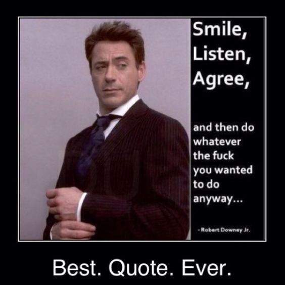 Well said...well said!: Smile Listen, Robertdowneyjr, Robert Downey Jr, My Life, Iron Man, Funny Stuff, Nu'Est Jr, Ironman, Listen Agree