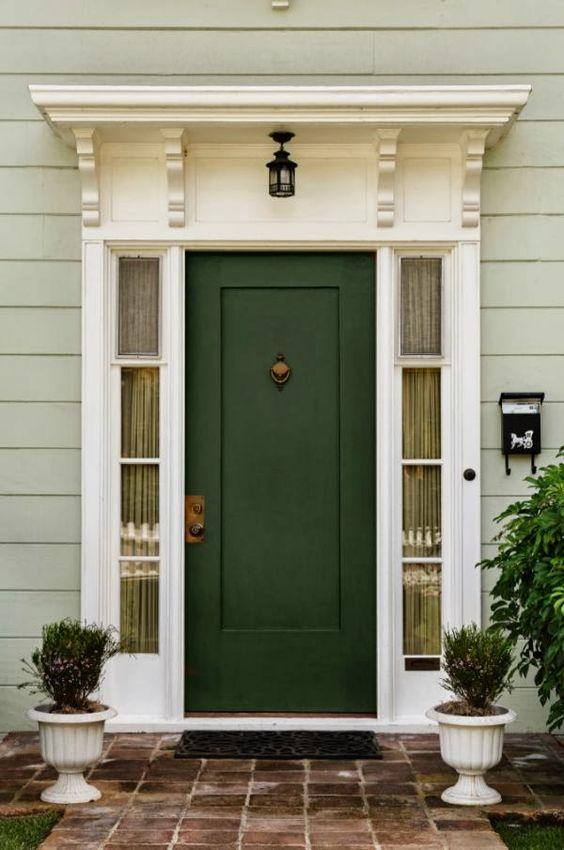 beautiful hunter green exterior door
