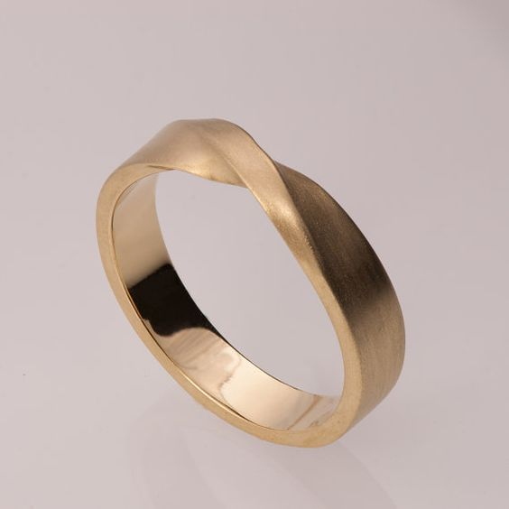 14k Goldring Unisex Ring Hochzeitsring Ehering von doronmerav