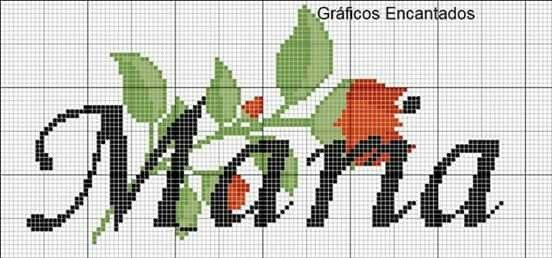 Maria Em Cross Stitch Com Imagens Nomes Em Ponto Cruz