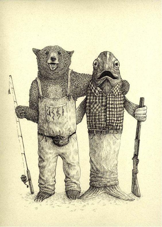 Bearly Fisher |  Autor: Diego Ayerbe. Revista Reloj de Arena