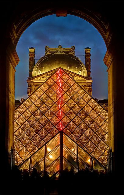 Louvre Pyramid at night | by Davide Seddio