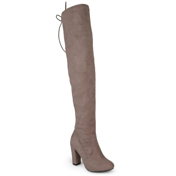 Journee Collection Women's 'Maya' Faux Regular and Wide Calf Over-the-knee Boots
