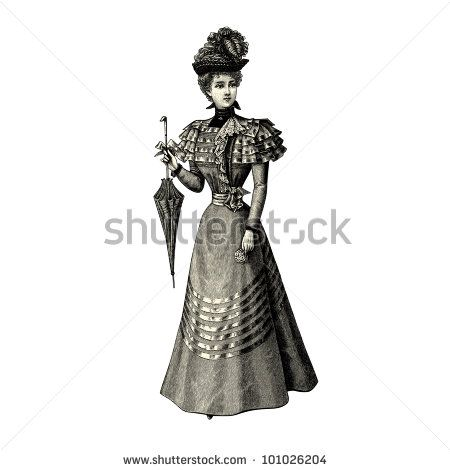 """The fashion Of 1897- Vintage engraved illustration - """"La mode illustree"""" by Firmin-Didot et Cie in 1897 France"""