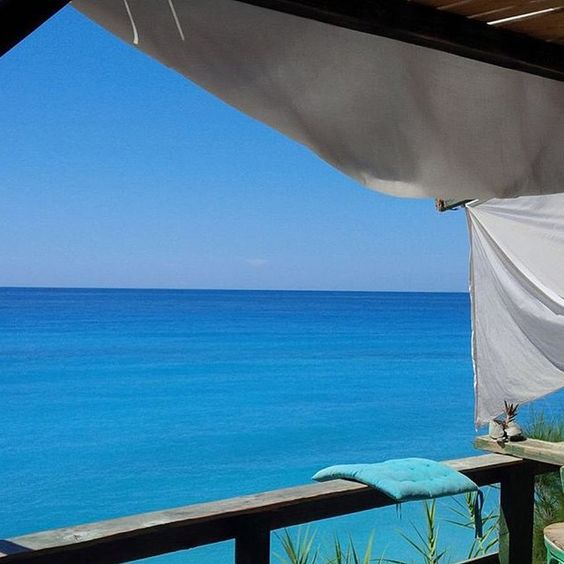 The view from Avali Cantine at Kalamitsi Beach in Lefkada Greece photo credit @simobella85