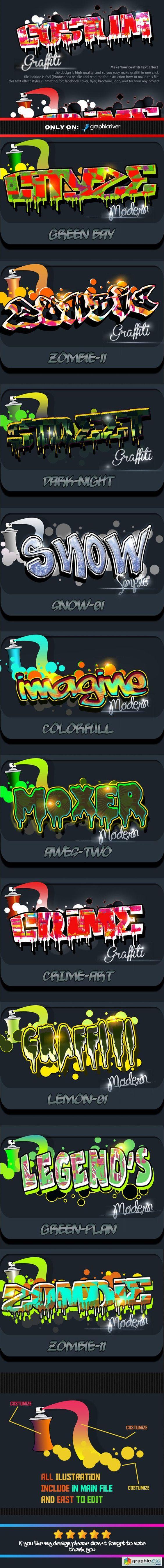Costum Graffiti Text Effect Styles Vol 2