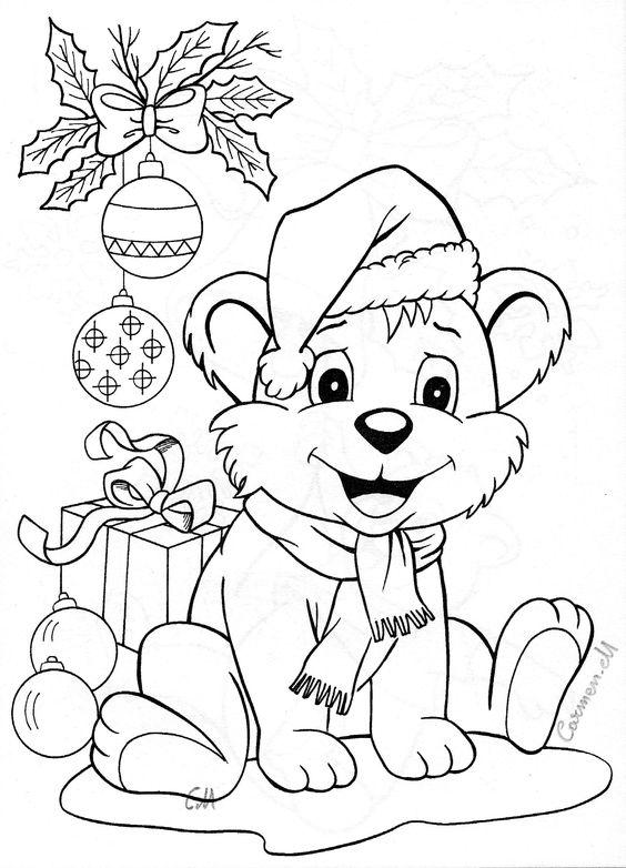 santa animal coloring pages - photo#13