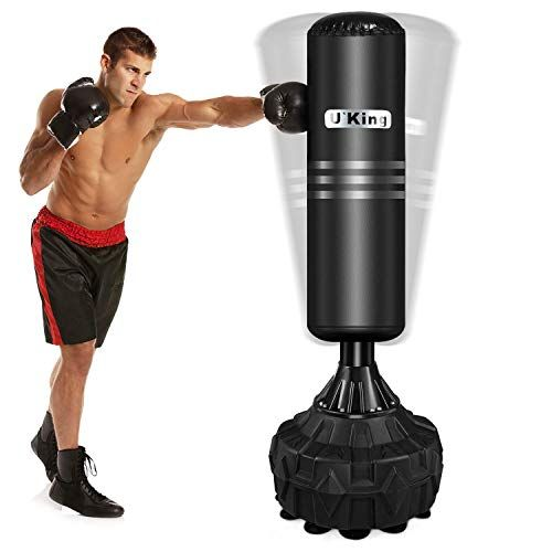 Boxing Free Standing Punch Bag with Mitts Kick Fight Martial Arts Stand MMA 6ft