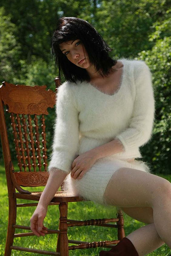 woman's angora sweater