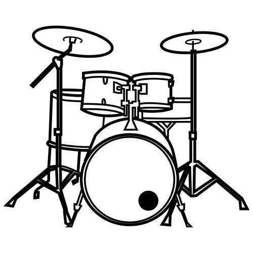 Preschool Drum Coloring Page Dia Da Musica Musica Na Educacao