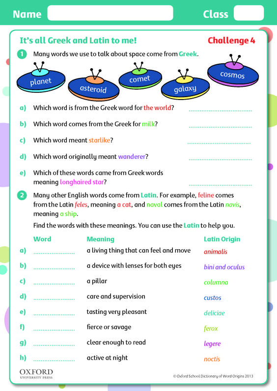 Help children learn about word families with this free challenge - origin of the word free