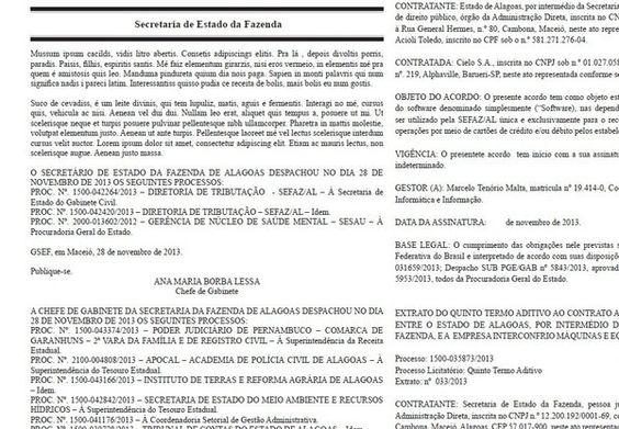 Erro em gráfica: Diário Oficial de Alagoas publica piada do Mussum na página da Fazenda