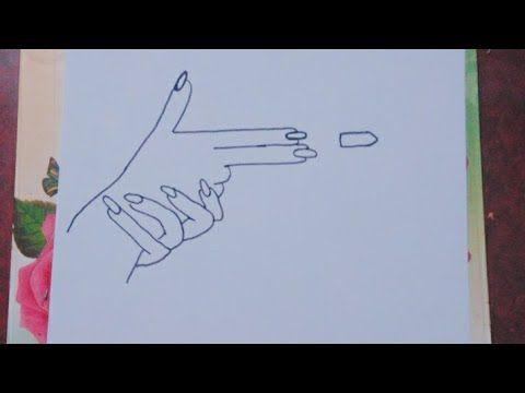 رسم يد مسدس Shooting Hand Youtube Easy Drawings Drawings Male Sketch