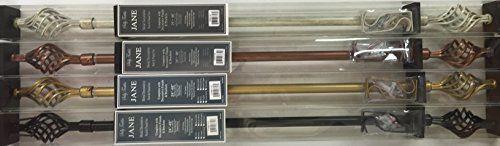 Jane Decorative Metal Curtain Rod And Finial Set Birdcage Design