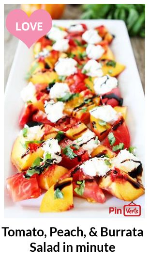 Tomato, Peach, & Burrata Salad... This fresh and simple salad is great ...