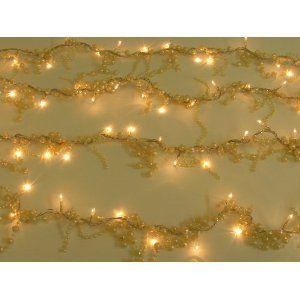 Christmas Fairy Lights Baroque Pearl Decorative 50 Bulb Light String:  Amazon.co.uk