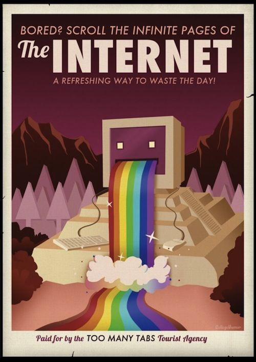 """The Internet"" Travel Poster"