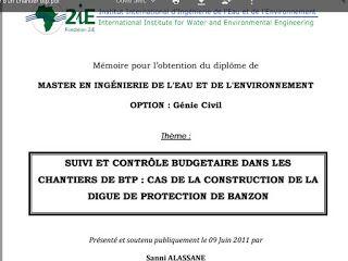 Suivi Et Controle Budgetaire Dans Les Chantiers Btp Budgetaire Chantier Exemple De Rapport