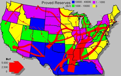 united states fault lines maps   The main production areas and ...