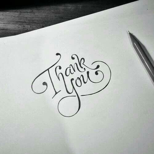 Gifts Ideas: handmade calligraphy with thank you