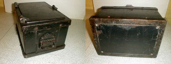 Strong Box Antique 1800s Stagecoach Train Cast Iron Safe Bank Vault Original | eBay