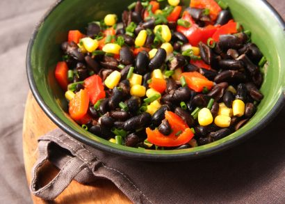 Black Bean Salad, Clean Eating, southwestern Salad, Healthy, 21 Day Fix Approved  www.realfitcountry.com