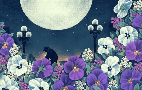 Night Gardening, an art print by Jeannie Phan                                                   - INPRNT
