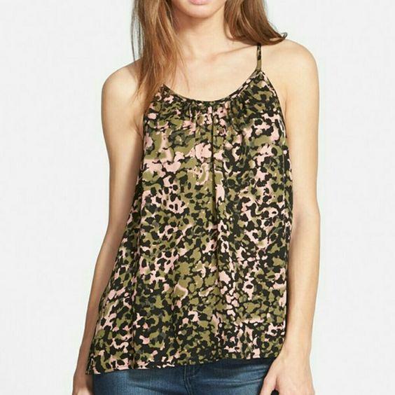 Rebecca Minkoff multi color print silk halter 100% silk, size small. New with tags Rebecca Minkoff Tops