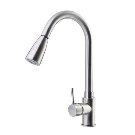 Kitchen Faucets With Pull Down Sprayer Stainless Steel Brushed