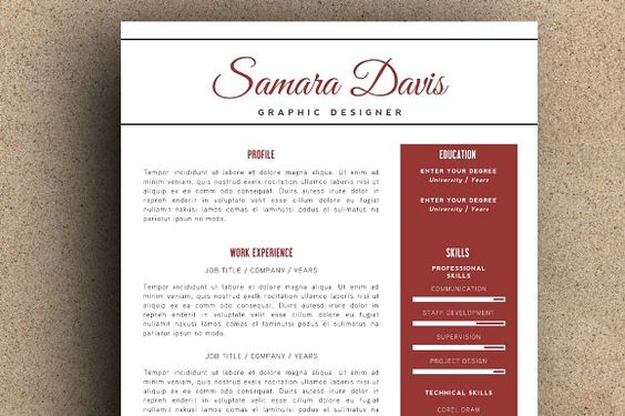 Resume Template 003 for Photoshop by@Graphicsauthor Resume CV - photoshop resume template