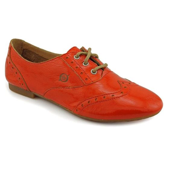 love the colour Born Ibis Womens Size 6 Orange Patent Leather Oxfords Shoes | eBay