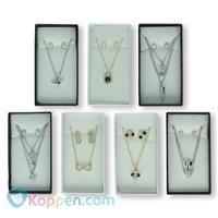Zilveren halsketting /Ea ring - Koppen.com