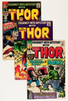 @@@ BID NOW FOR CHANCE TO OWN THESE 11 VINTAGE COMICS!@@@Silver Age (1956-1969):Superhero, Journey Into Mystery/Thor Group (Marvel, 1965) Condition: AverageVG.... (Total: 11 Comic Books)