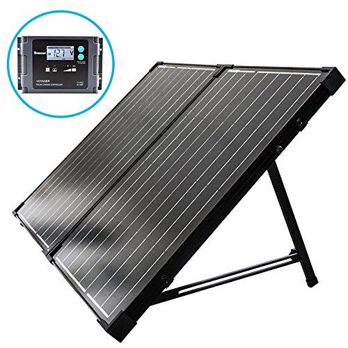 Renogy 100 Watt 12 Volt Monocrystalline Off Grid Portable Foldable 2pcs 50w Solar Panel Suitcase Built In Kickstand With Waterproof 20a Charger Controller Use Solar Panels Best Solar Panels Monocrystalline Solar Panels