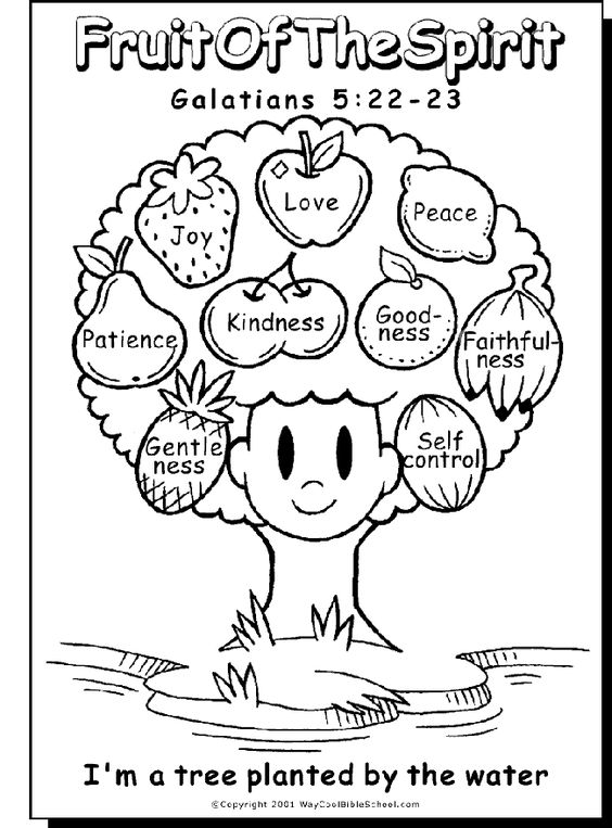 Free Fruits of the Spirit Bible Printables. Coloring Pages ...