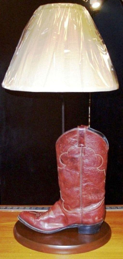 Boot Or Shoe Lamp Shoe Lamp Custom Cowboy Boots Lamp