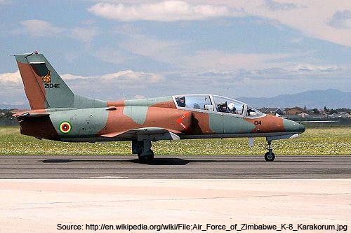 Hongdu K-8 Karakorum Light Attack and Jet Trainer Aircraft.