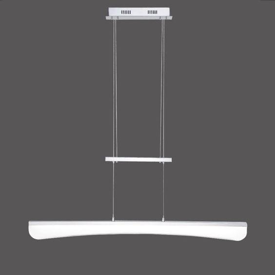 LED-Zugpendelleuchte FELIA - Chrom Acrylglas - 33,8W LED - warmweißes Wohnlicht, 3000K, 2430Lumen
