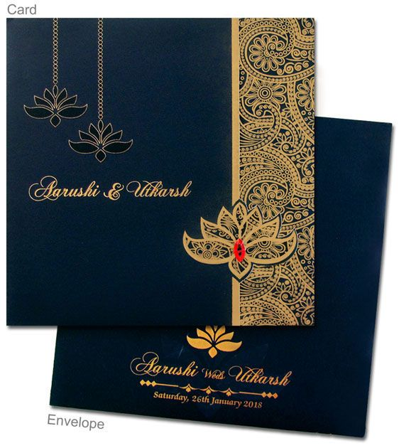Card Front Indian Wedding Invitation Cards
