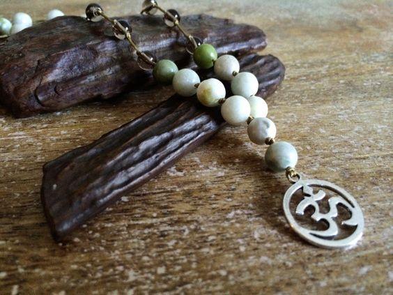 """Long """"om"""" Boho yoga hippie pendant. Yogi Universal islanment by HonuHippie on Etsy https://www.etsy.com/listing/241110107/long-om-boho-yoga-hippie-pendant-yogi"""