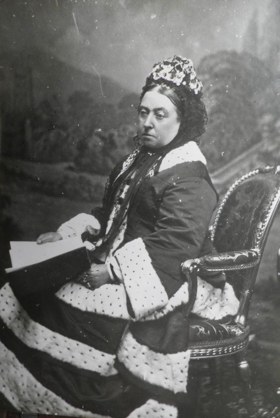 Queen Victoria is so seldom seen smiling. She grieved her beloved Prince Albert until the day she died.