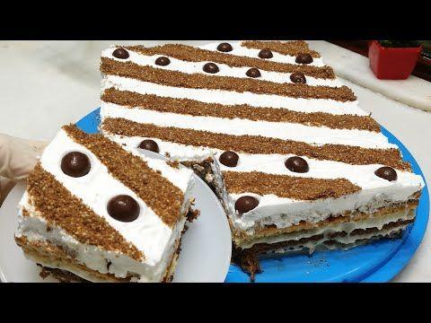 كيكه بدون فرن كيكة البسكويت البارده سريعه بالتحضير ولذيذه Youtube Desserts Vanilla Cake Cake