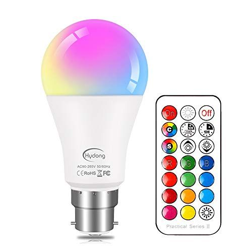 Color Altering Bulb B22 10w Dimmable Rgbw Led Gentle Bulbs Temper Lighting With 21key Distant Management Twin Reminiscence Operate 12 Shade Selection In 2020 Led Color