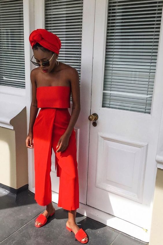 summer outfit red