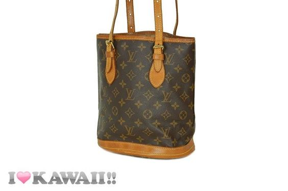 Auth Louis Vuitton Monogram Bucket PM Bag Hand Purse Shoulder Free Shipping! #LouisVuitton #ShoulderBag