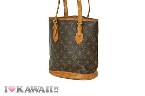 Auth Louis Vuitton Monogram Bucket PM Bag Hand Purse Shoulder Free Shipping! #LouisVuitton #ShoulderBag