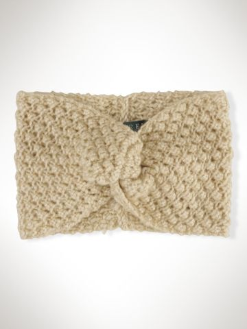 Wool-Blend Knit Headband - Lauren Hats, Gloves & Scarves - RalphLauren.com