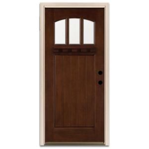 Steves Sons Craftsman 3 Lite Prefinished Mahogany Wood Entry Door Q6tpymln10b1lh At The Home