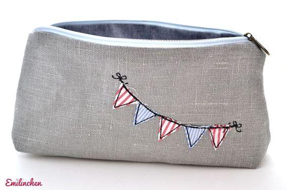 kleines Schminktäschchen Wimpelkette von Emilinchen     auf DaWanda.com