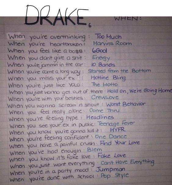 The Most Sensitive Drake Lyrics Drakes Songs Mood Songs